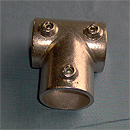 #32 TEE - J.C. Denier Co. - Aluminum Alloy Structural Pipe Fittings for Hand Rails & Guard Rails