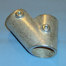 #45 DEGREE TEE - J.C. Denier Co. - Aluminum Alloy Structural Pipe Fittings for Hand Rails & Guard Rails